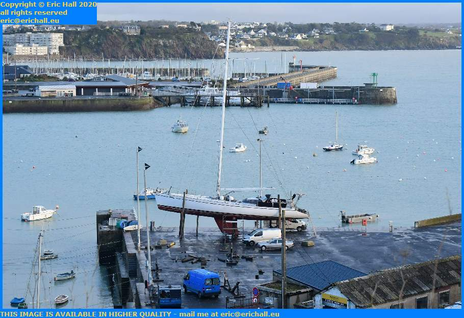 yacht chantier navale port de Granville harbour Manche Normandy France Eric Hall