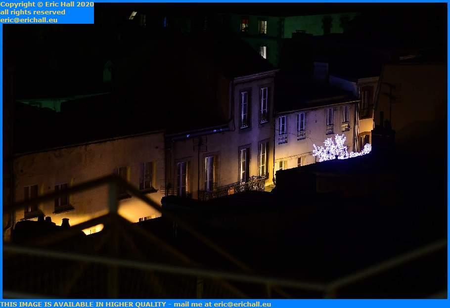 christmas lights rue des corsaires Granville Manche Normandy France Eric Hall