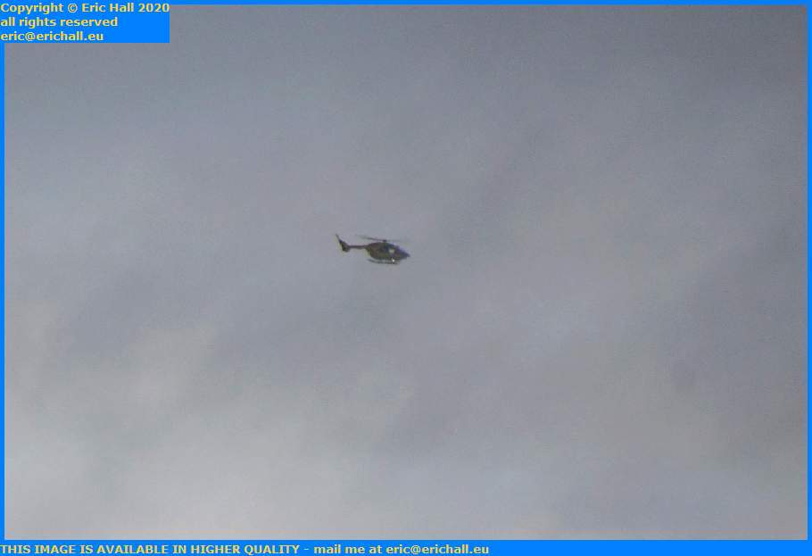 helicopter english channel Granville Manche Normandy France Eric Hall