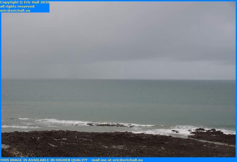 rainstorm ile de chausey englidh channel Granville Manche Normandy France Eric Hall