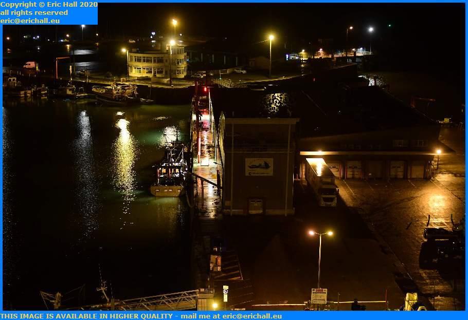 trawler unloading fish processsing plant port de Granville harbour Manche Normandy France Eric Hall