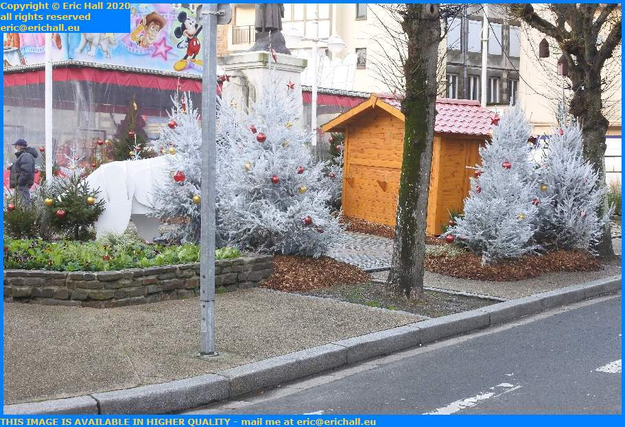 christmas decorations place generale de gaulle Granville Manche Normandy France Eric Hall
