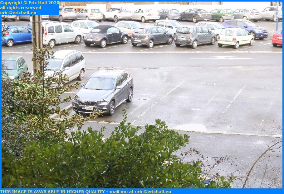 bad parking bmw bus station railway station Granville Manche Normandy France Eric Hall