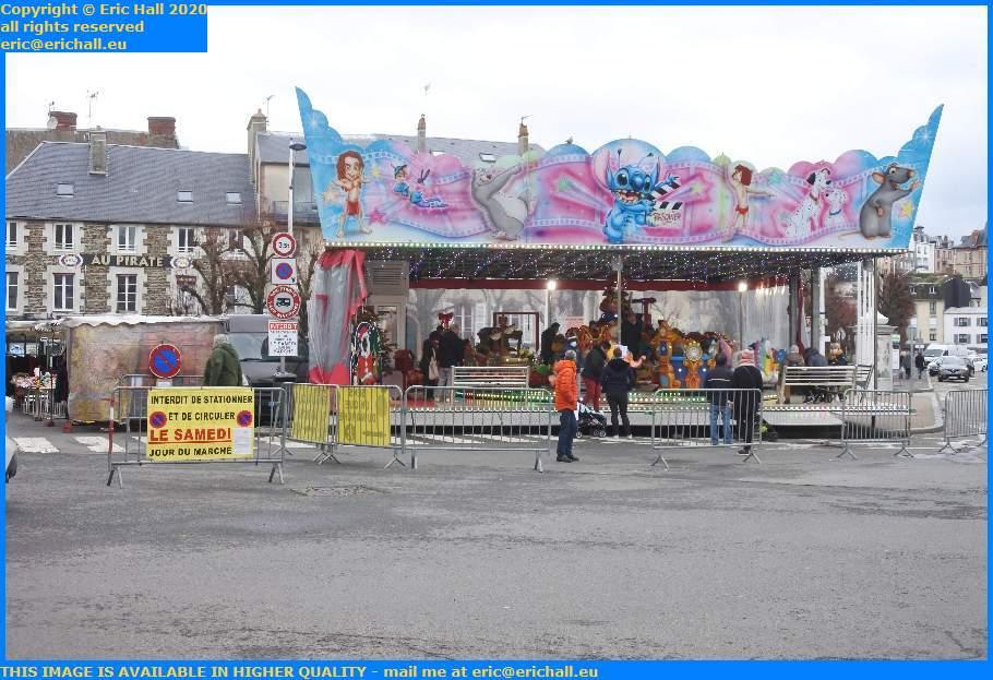 christmas market kddies roundabout place generale de gaulle Granville Manche Normandy France Eric Hall
