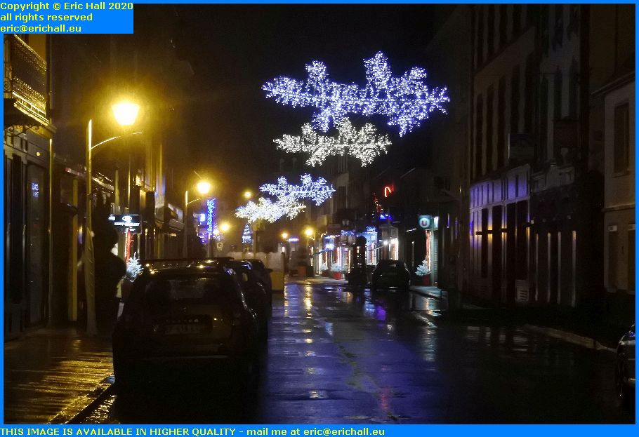christmas lights rue lecampion Granville Manche Normandy France Eric Hall