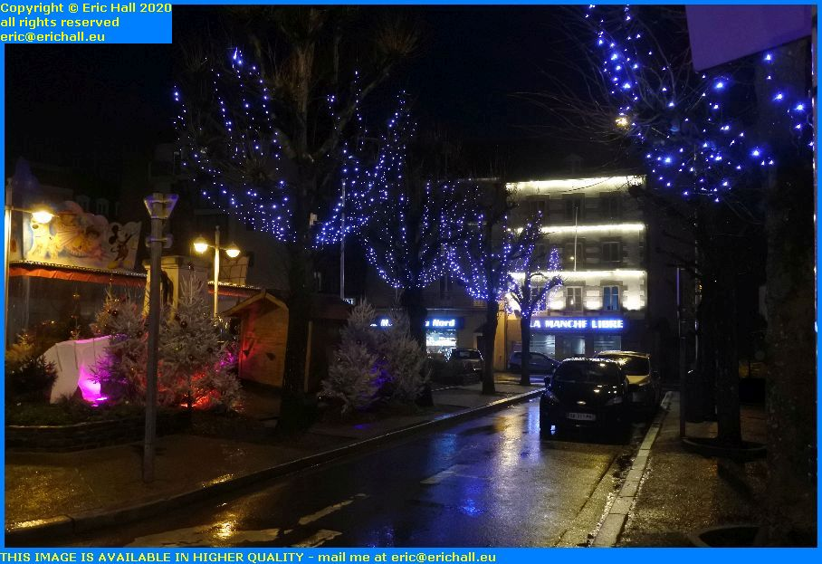 christmas lights place generale de gaulle Granville Manche Normandy France Eric Hall
