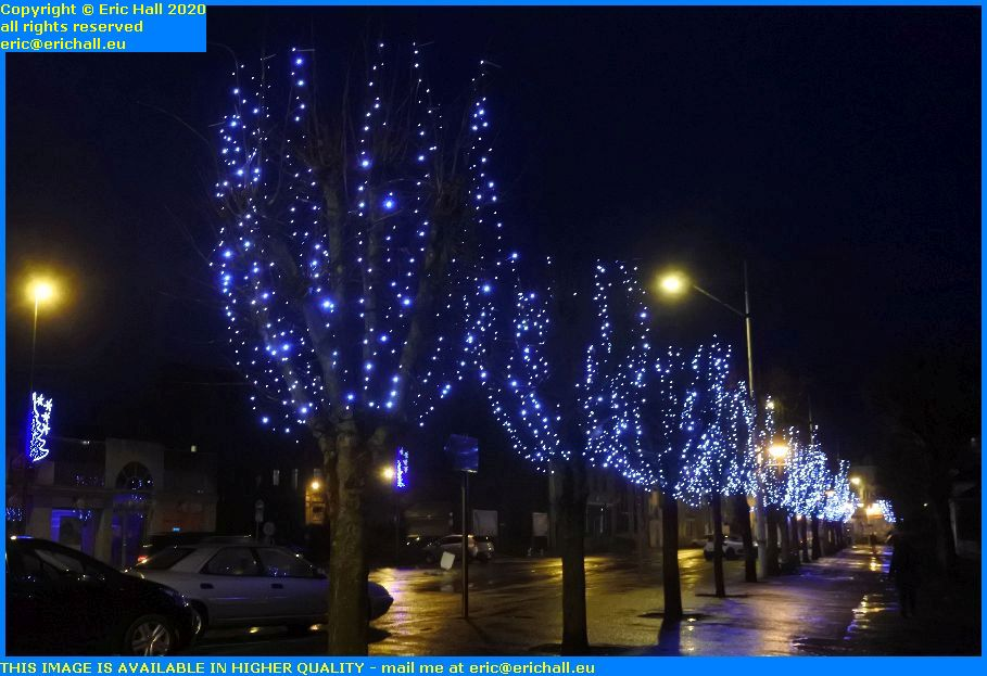 christmas lights cours jonville Granville Manche Normandy France Eric Hall