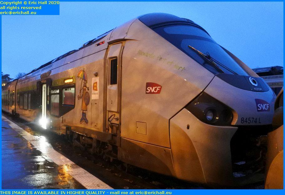 gec Alstom Regiolis 84574 gare de Granville railway station Manche Normandy France Eric Hall