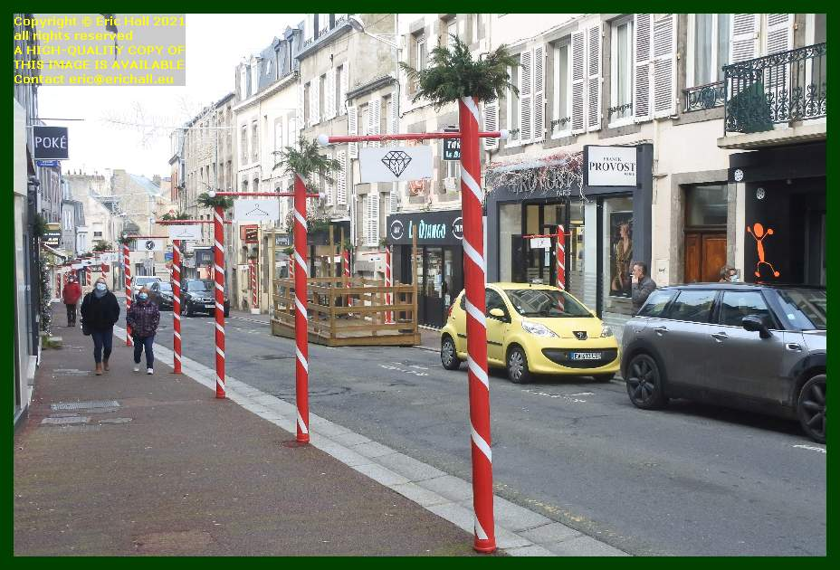 christmas decorations rue couraye Granville Manche Normandy France Eric Hall