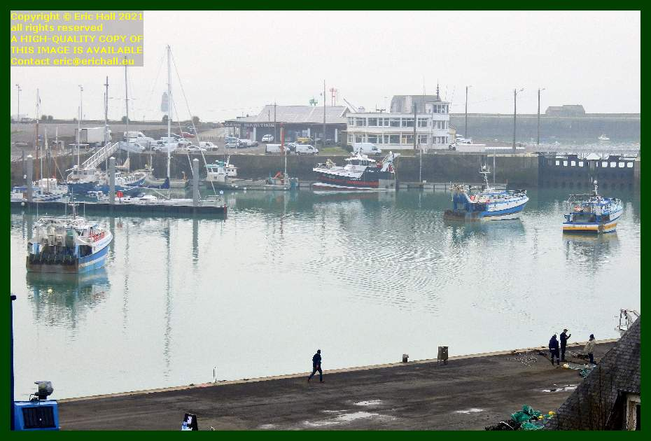 trawlers ready to leave port de Granville harbour Manche Normandy France Eric Hall