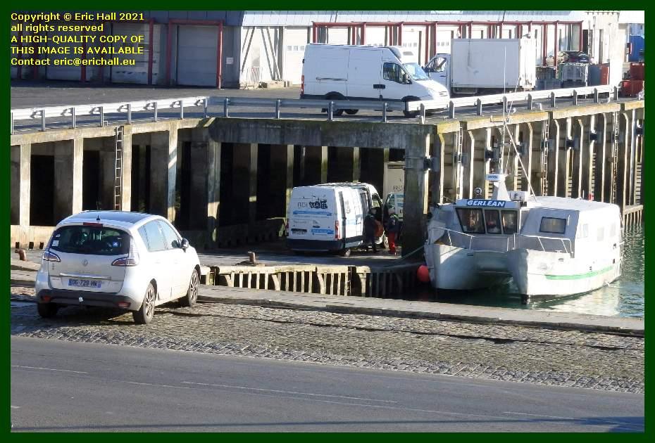 unloading seafood fish processing plant port de Granville harbour Manche Normandy France Eric Hall