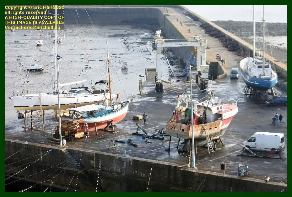 aztec lady chantier navale port de Granville harbour Manche Normandy France Eric Hall