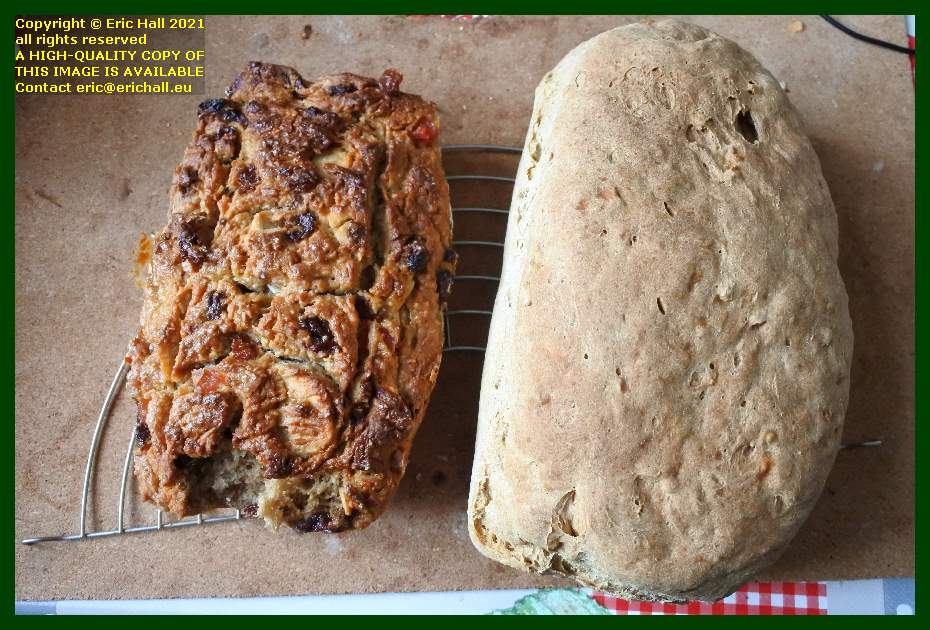 sourdough fruit loaf home made wholemeal bread place d'armes Granville Manche Normandy France Eric Hall