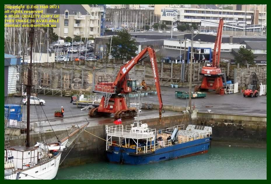 normandy trader unloading port de Granville harbour Manche Normandy France Eric Hall