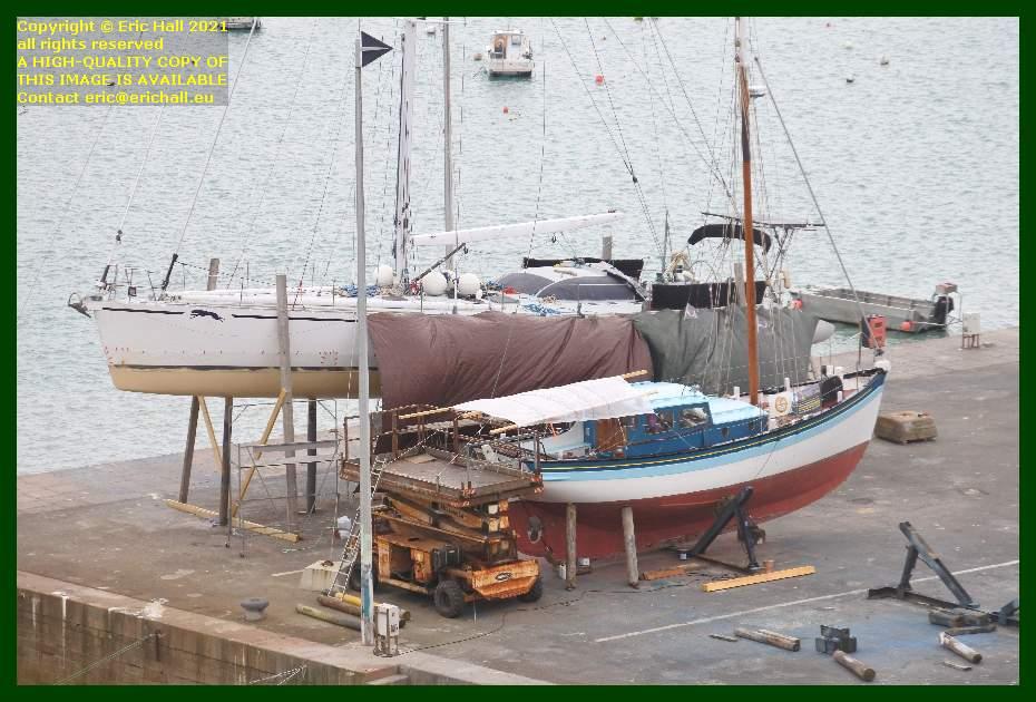 yachts chantier navale port de Granville harbour Manche Normandy France Eric Hall