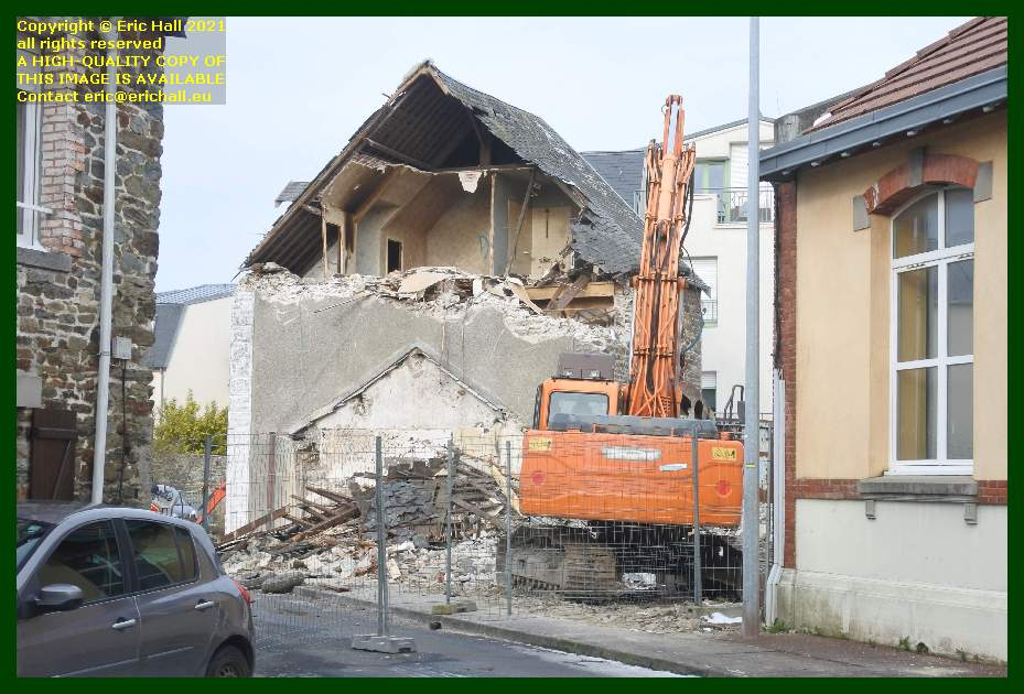 demolition of house rue st paul rue victor hugo Granville Manche Normandy France Eric Hall