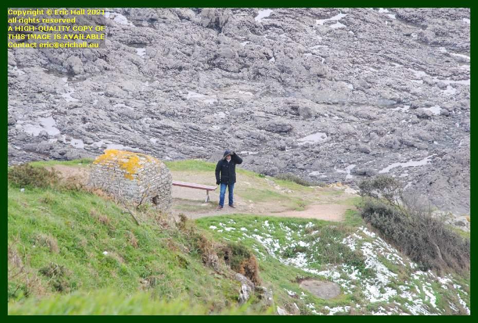 cabanon de guet man on headland pointe du roc Granville Manche Normandy France Eric Hall