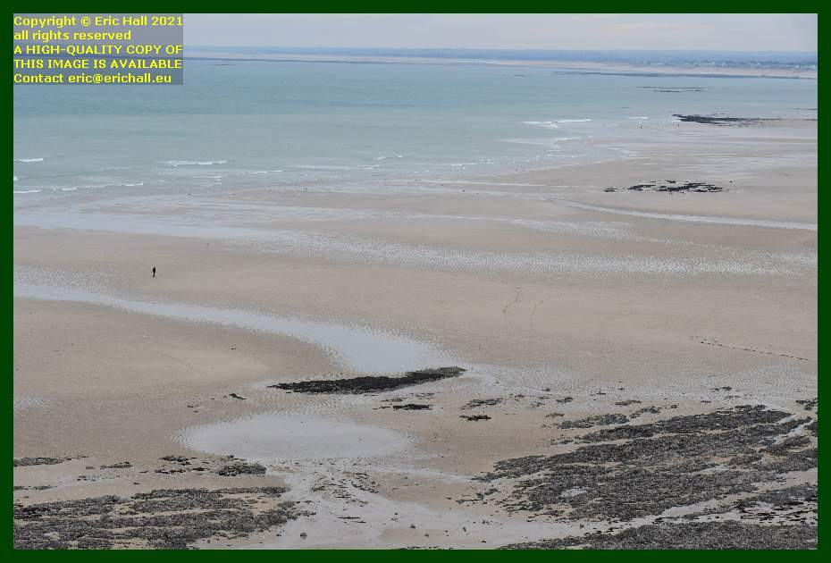 people on beach rue du nord Granville Manche Normandy France Eric Hall