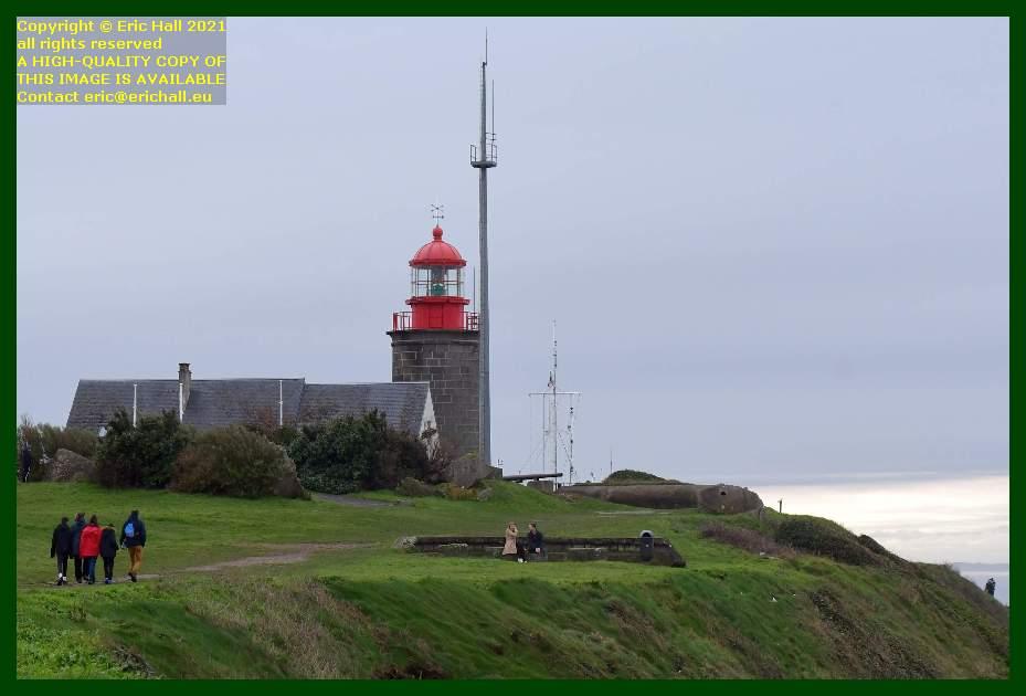 people lighthouse semaphore pointe du roc Granville Manche Normandy France Eric Hall