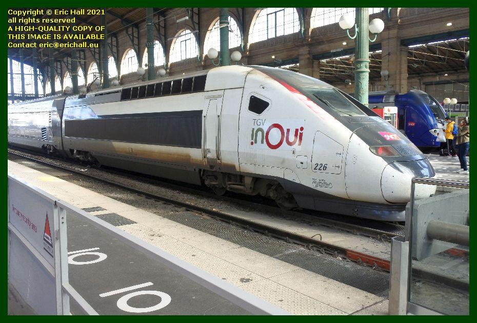 TGV Reseau 226 gare du nord paris France Eric Hall