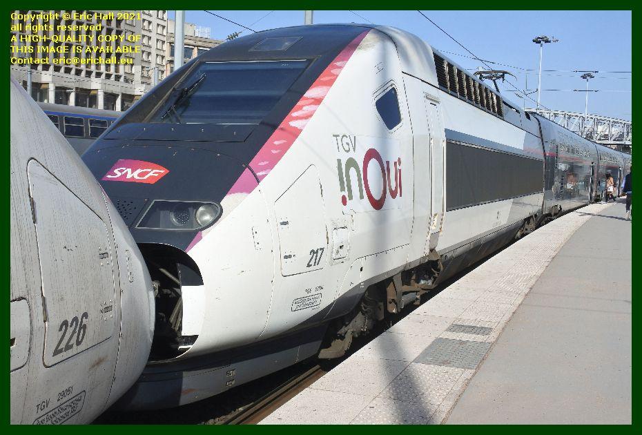 TGV Reseau 217 gare du nord paris France Eric Hall