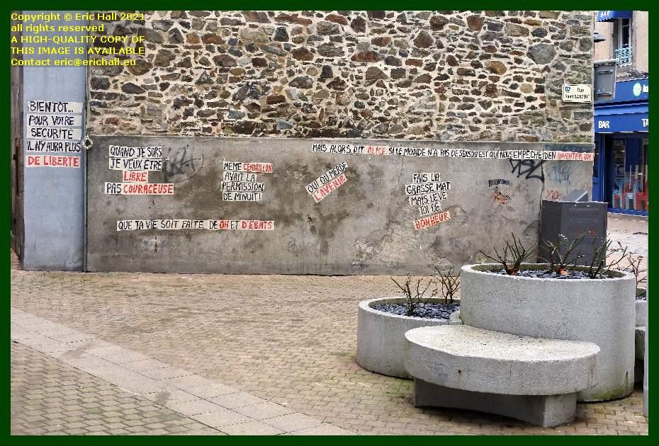 high class graffiti rue saint sauveur Granville Manche Normandy France Eric Hall