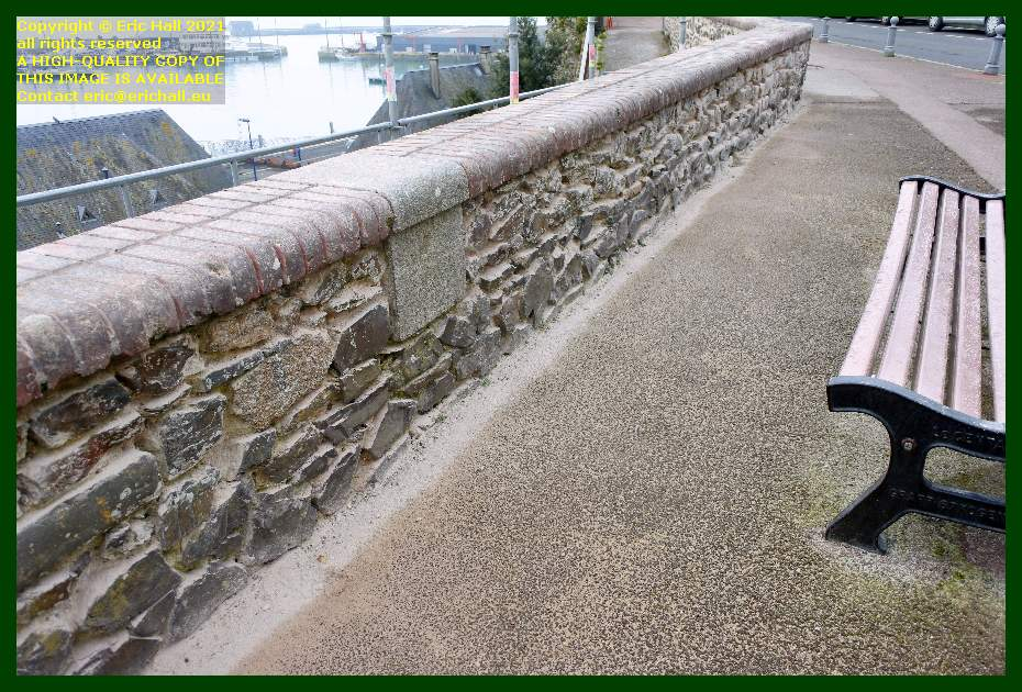 wall prepared for pointing rue des juifs rampe du monte a regret Granville Manche Normandy France Eric Hall