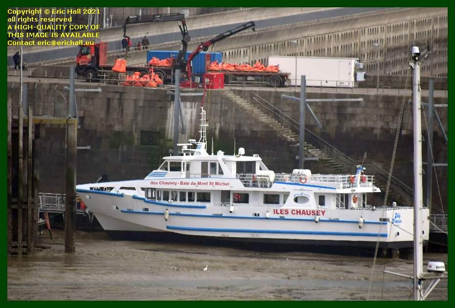joly france unloading building material port de Granville harbour Manche Normandy France Eric Hall