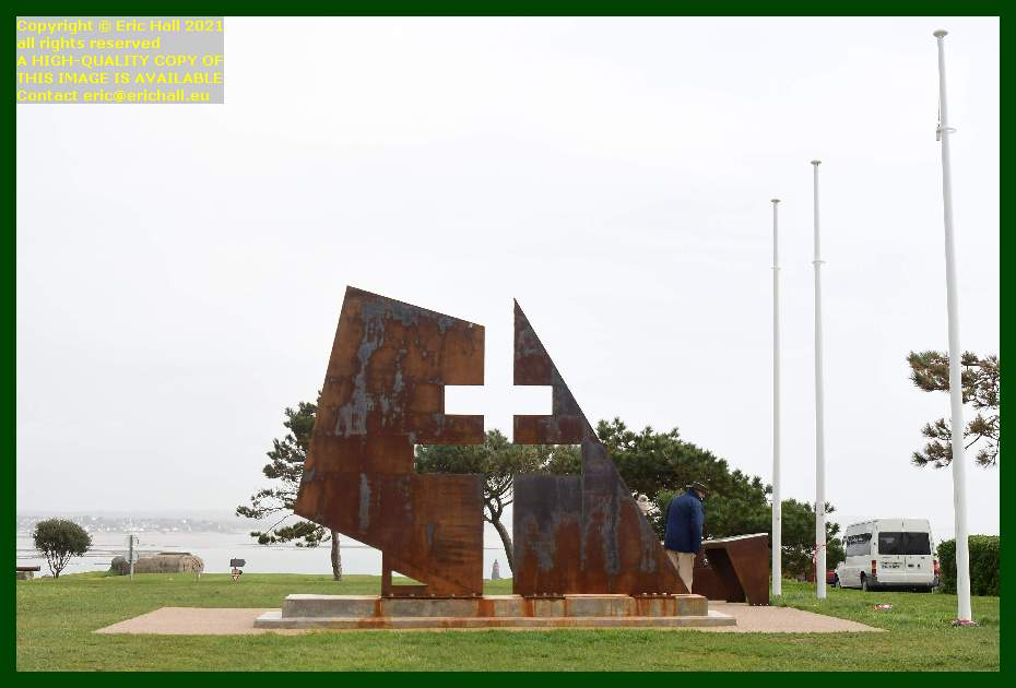 memorial to the resistance pointe du roc Granville Manche Normandy France Eric Hall