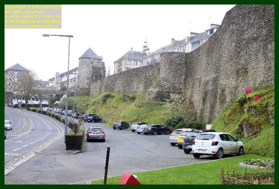 rue des noyers city walls st lo  Manche Normandy France Eric Hall