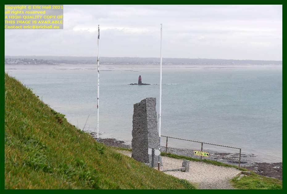 seafarers memorial le loup baie de mont st michel Granville Manche Normandy France Eric Hall