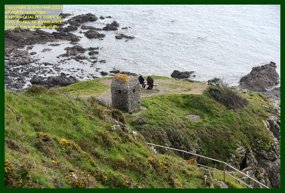 cabanon de guet tourists pointe du roc Granville Manche Normandy France Eric Hall