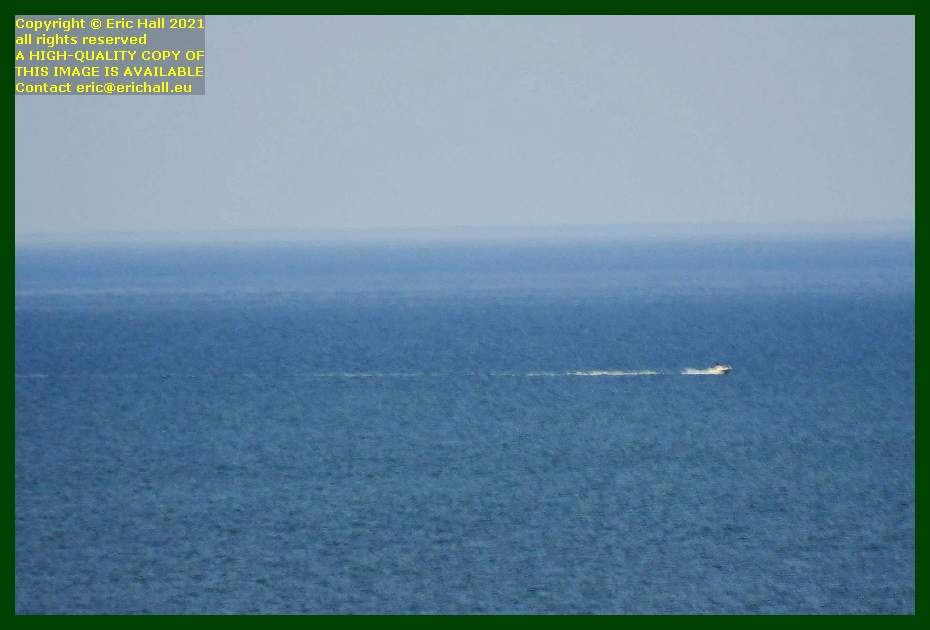 speedboat english channel Granville Manche Normandy France Eric Hall