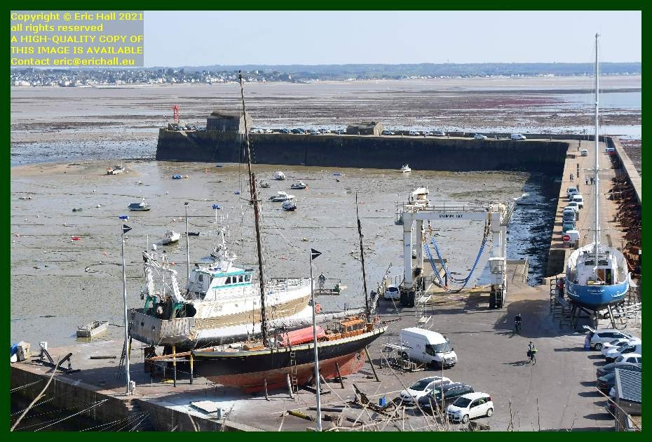 hermes 1 lys noir aztec lady chantier navale port de Granville harbour Manche Normandy France Eric Hall