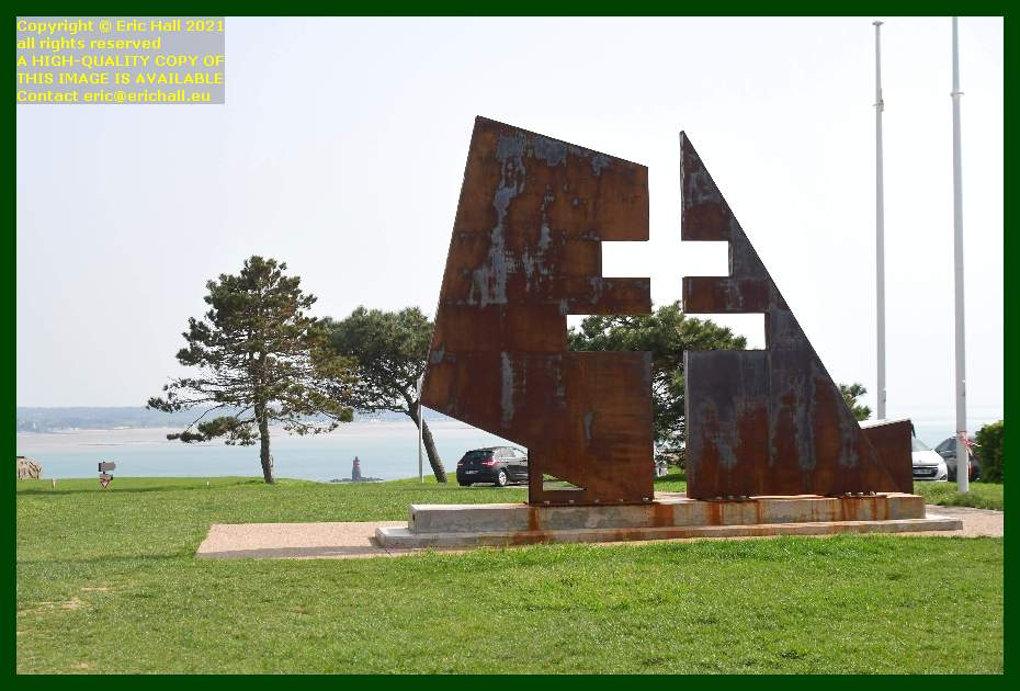 monument to the resistance le loup pointe du roc Granville Manche Normandy France Eric Hall