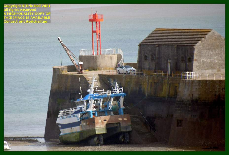 trawler aground port de Granville harbour Manche Normandy France Eric Hall