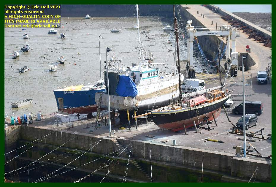 anakena hermes 1 lys noir chantier navale port de Granville harbour Manche Normandy France Eric Hall