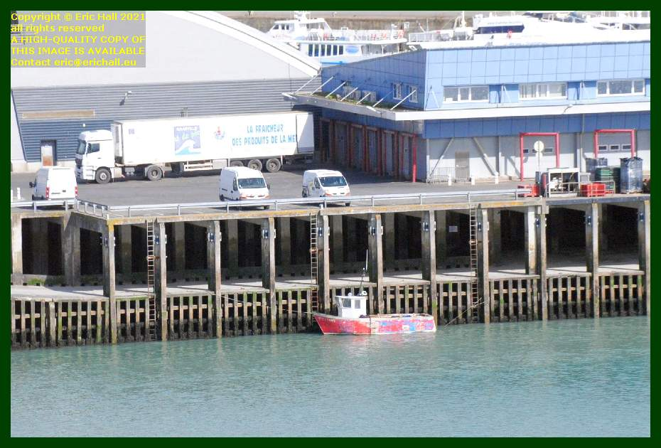 fishing boat refrigerated lorry fish processing plant port de Granville harbour Manche Normandy France Eric Hall