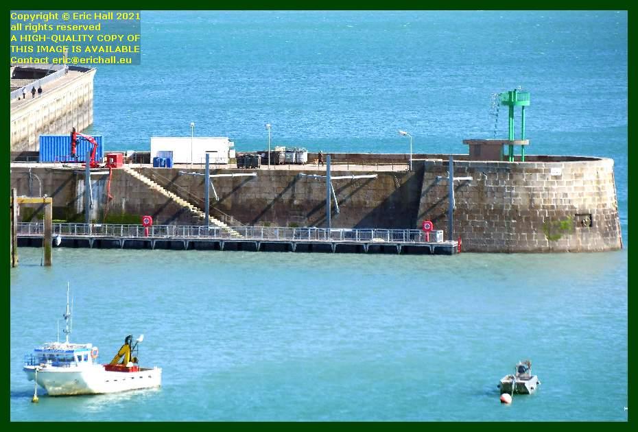crane ferry port de Granville harbour Manche Normandy France Eric Hall
