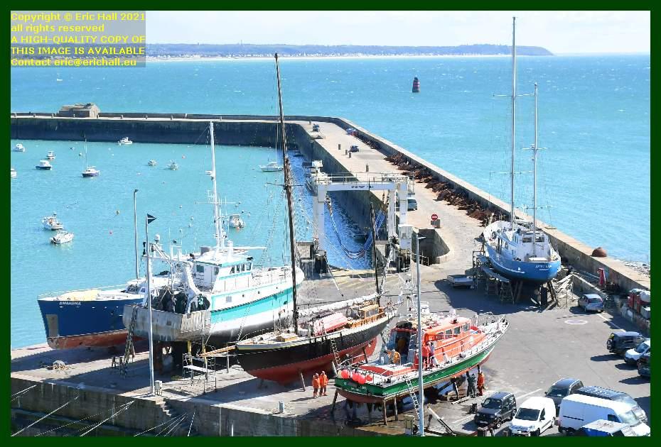 anakena hermes 1 lys noir notre dame de cap lihou aztec lady chantier navale port de Granville harbour Manche Normandy France Eric Hall