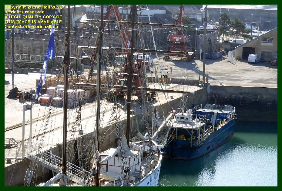marite unloading normandy trader port de Granville harbour Manche Normandy France Eric Hall