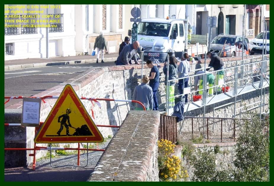 pointing rampe de monte à regret Granville Manche Normandy France Eric Hall