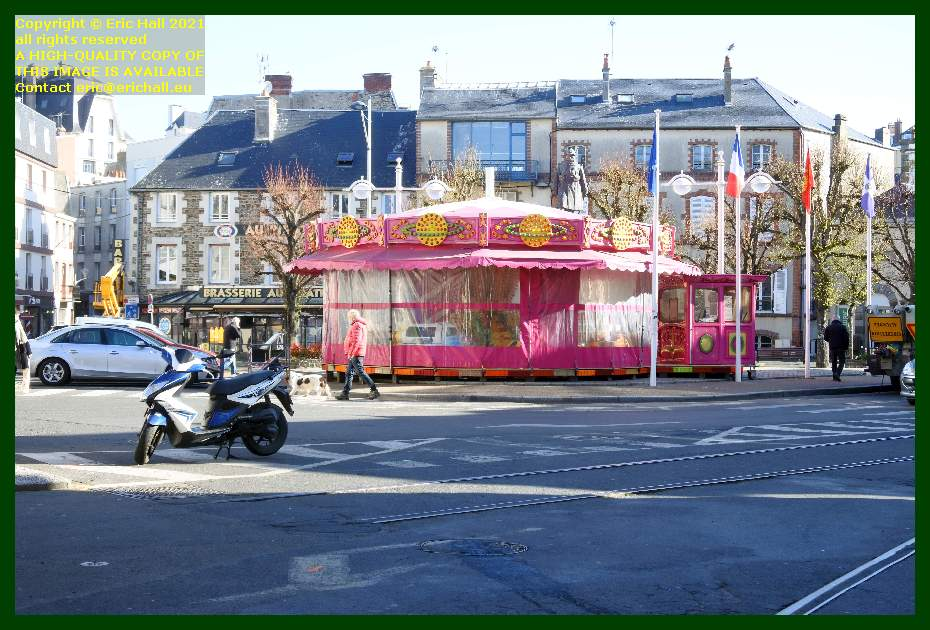 roundabout place charles de gaulle Granville Manche Normandy France Eric Hall