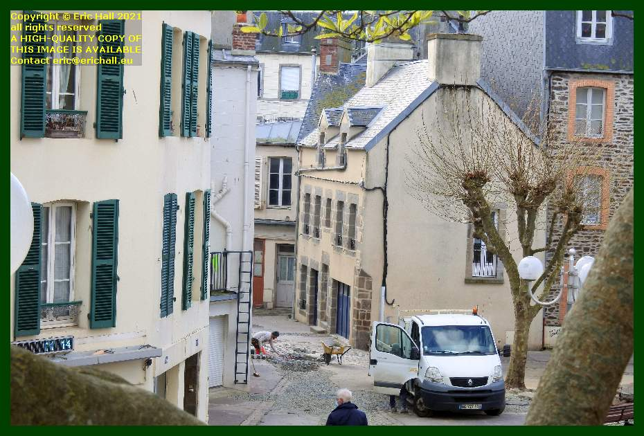 roadworks rue etoupefour Granville Manche Normandy France Eric Hall