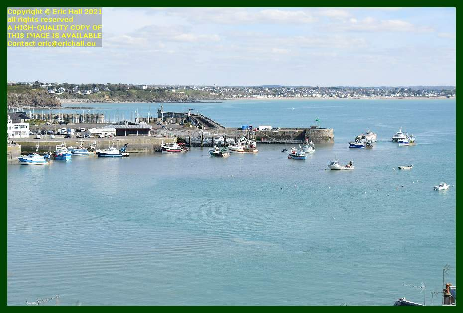 fishing boats waiting for port de Granville harbour to open Manche Normandy France Eric Hall