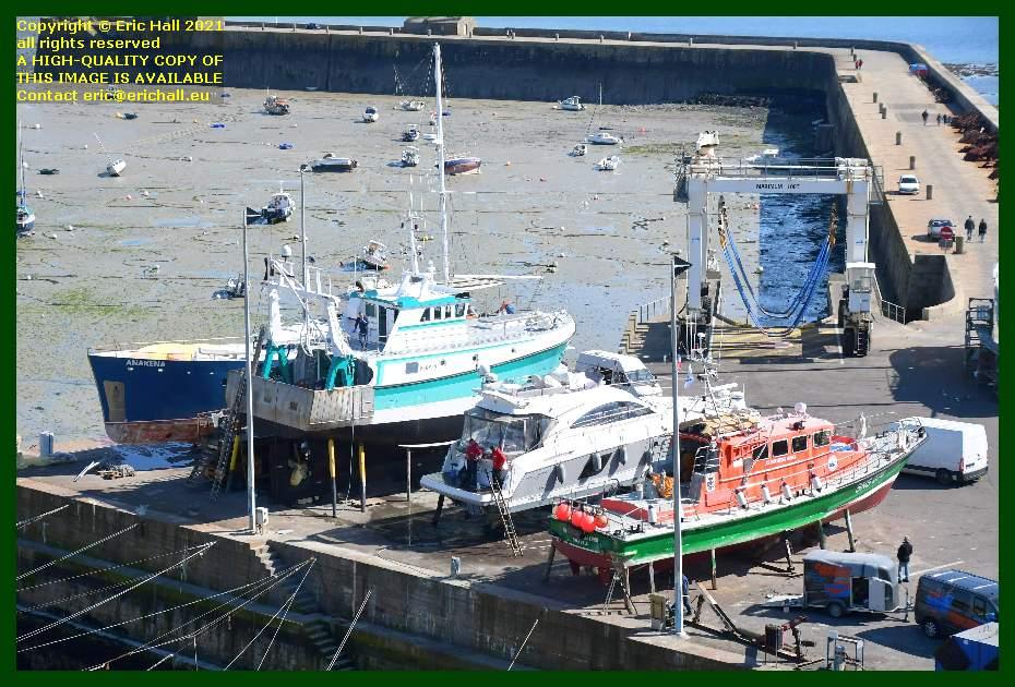 anakena hermes 1 notre dame de cap lihou pleasure craft chantier navale port de Granville harbour Manche Normandy France Eric Hall