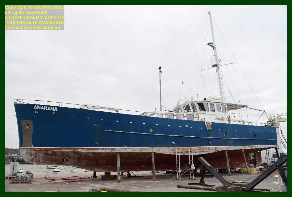 anakena chantier navale port de Granville harbour Manche Normandy France Eric Hall