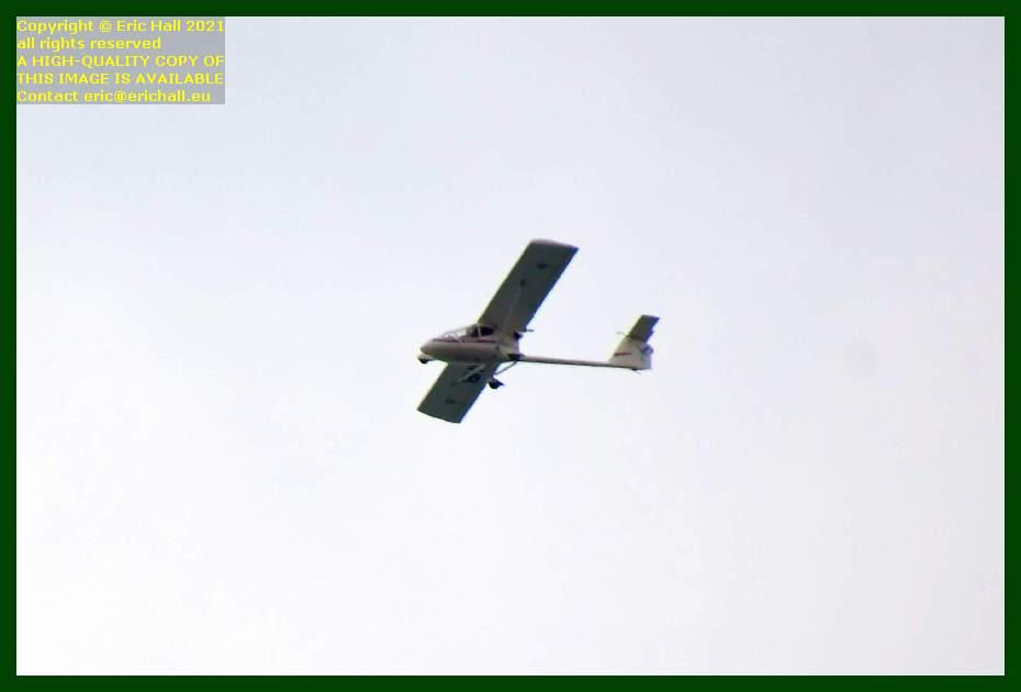 light aeroplane pointe du roc Granville Manche Normandy France Eric Hall
