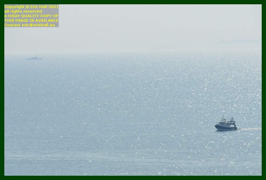 trawler military vessel baie de mont st michel Granville Manche Normandy France Eric Hall