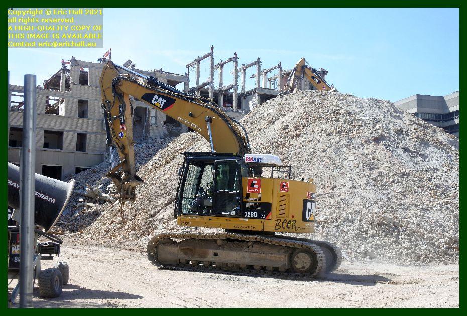 machines demolishing sint pieters hospital brusselsestraat leuven belgium Eric Hall